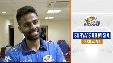 Suryakumar talks about his 99 m six | सूर्या की बल्लेबाज़ी | IPL 2021