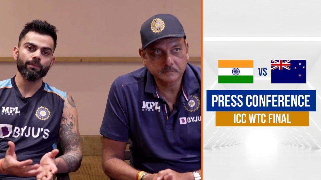 Virat Kohli and Ravi Shastri address the press ahead of the ICC WTC Final | विराट और रवि से बात