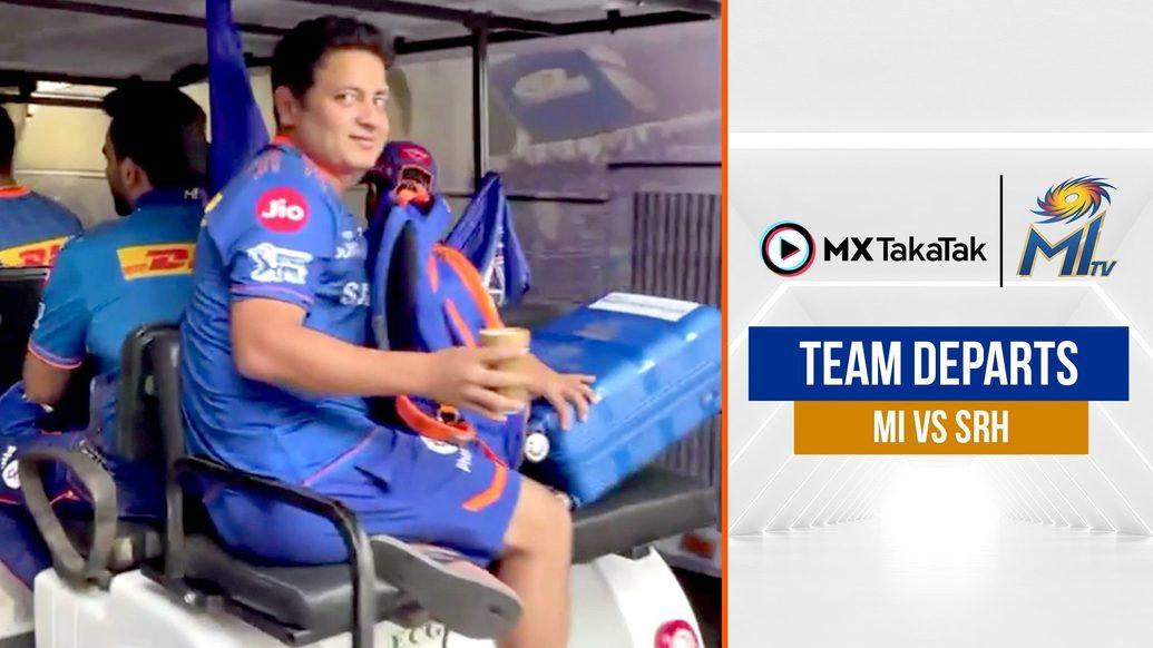 Mumbai Indians depart for SRH clash | हमारी टीम चली अपने अगले मैच के लिए | IPL 2021