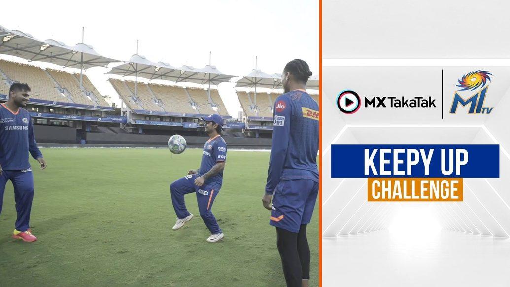 Ishan, Rahul and co play a keepy up challenge | कीपी अप | Mumbai Indians