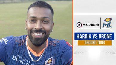 Hardik Pandya controls the drone | हार्दिक बने द्रोणाचार्य | Mumbai Indians