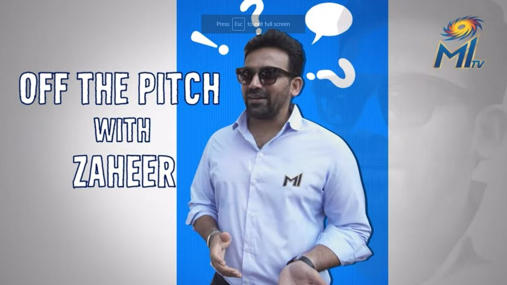 Off the pitch with Zaheer Khan   Mumbai Indians