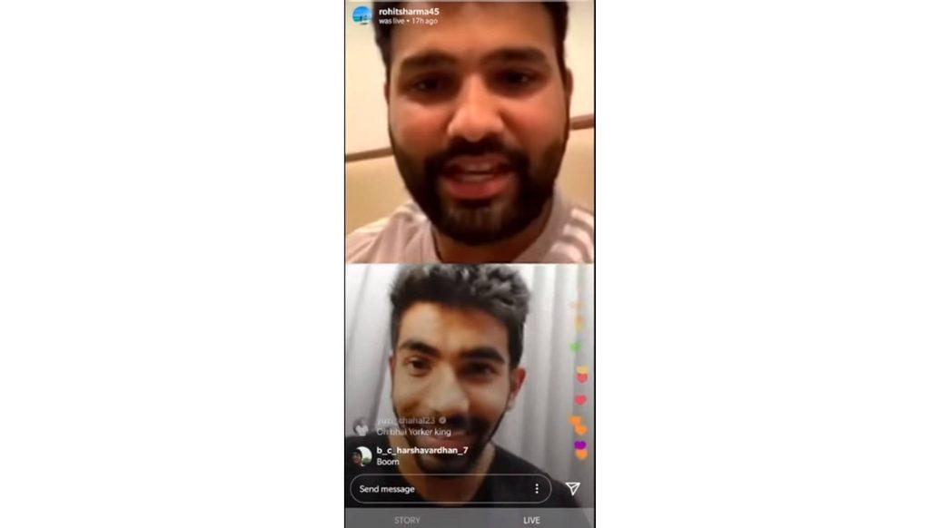 Rohit Sharma and Jasprit Bumrah - Instagram LIVE | Full video | Mumbai Indians