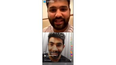 Rohit Sharma and Jasprit Bumrah - Instagram LIVE | Full video | Mumbai Indians