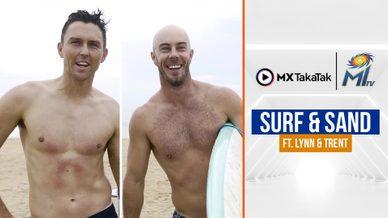 Surfing with Trent & Lynn | ट्रेंट और लिन की सर्फ़िंग | IPL 2021