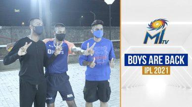 Surya, Hardik and Krunal are back for IPL 2021 | टीम मुंबई पहुंची | Marriott Bonvoy