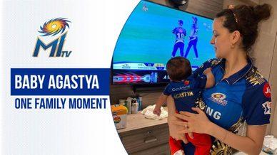 Nataša with Baby Agastya | नताशा और छोटा अगस्त्य | Dream11 IPL 2020
