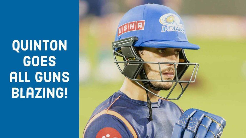 Quinton de Kock in the nets | Mumbai Indians